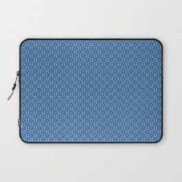 Mini Paddles and Balls on Blue Laptop Sleeve