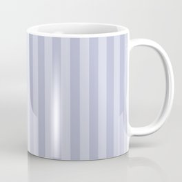 Gray blue simple stripes . Coffee Mug