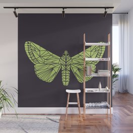 The envy of the moth - Geometric design Wall Mural