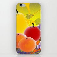fruit iPhone & iPod Skins featuring Fruit by Ramon J Butler-Martinez