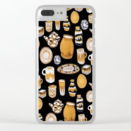 Rust Ceramics Clear iPhone Case