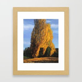 The fire tree (Colors of Fall #1) Framed Art Print