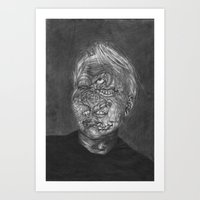no face Art Prints featuring Face by hannoia