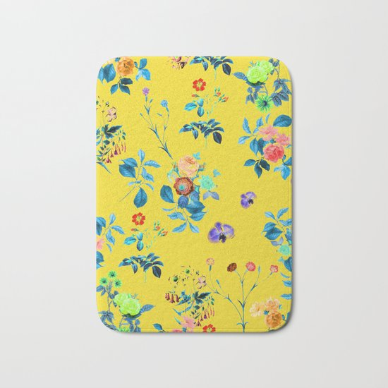 Floral Shower || #society6 #decor #buyart Bath Mat
