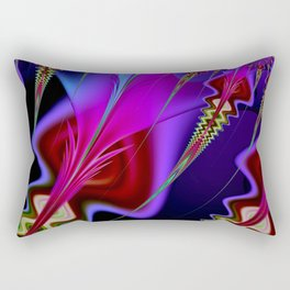 Psychedelia Abstract Fractal Rectangular Pillow