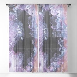 Crystal Cathedral Abstract Sheer Curtain