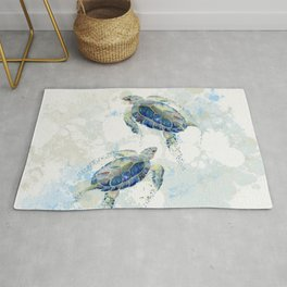 Swimming Together 2 - Sea Turtle  Rug