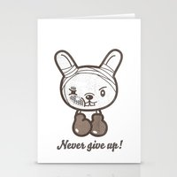 boxing Stationery Cards featuring Boxing Bunny by pencilplus