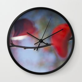 Red leaves and blue ky #04 Wall Clock
