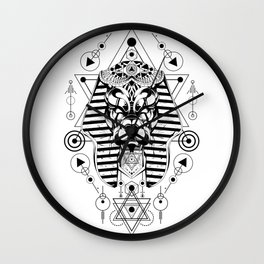 Anubis sacred geometry Wall Clock
