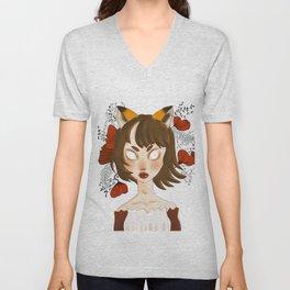 fox lady Unisex V-Neck