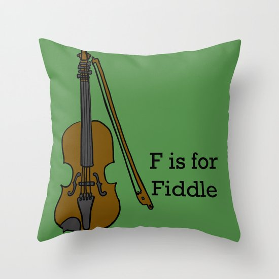 Fiddle, Typed Throw Pillow