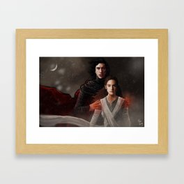 He set fire to the world around him but never let a flame touch her Framed Art Print