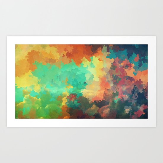 Cloudy in Paradise Art Print
