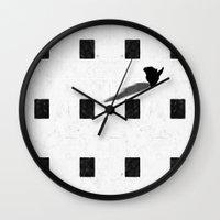 chess Wall Clocks featuring chess by Helena Georgiou