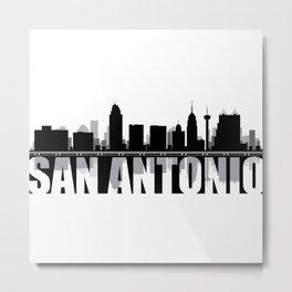 San Antonio Silhouette Skyline Metal Print