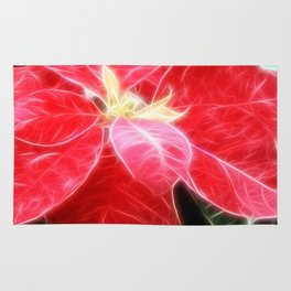 Mottled Red Poinsettia 2 Angelic Rug