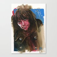 neil young Canvas Prints featuring Young Neil by kenmeyerjr