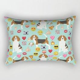 beagle emoji funny dog gifts emojis Rectangular Pillow