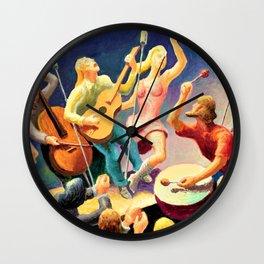 Classical Masterpiece 'Youth Music' by Thomas Hart Benton Wall Clock