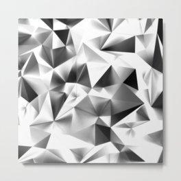 Dark Triangular Geometry Metal Print