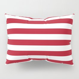 Horizontal Stripes in Red and White Pillow Sham