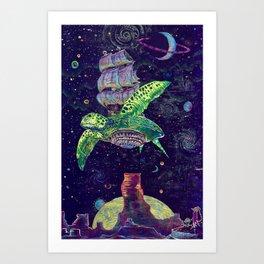 Sobaloopsian Turtleship Art Print