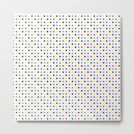 Light CMYK Polka Dots Metal Print