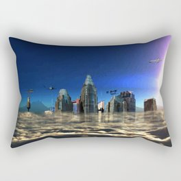 City In The Clouds (dark) Rectangular Pillow