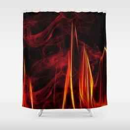 Feuer und Qualm Shower Curtain