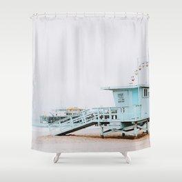 santa monica, california Shower Curtain