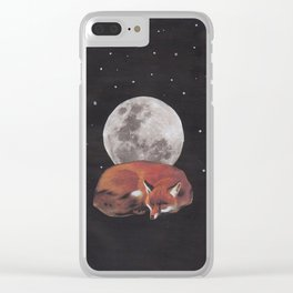 nocturnal animals Clear iPhone Case