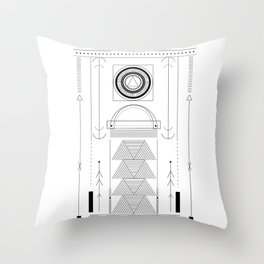cirquit blank Throw Pillow