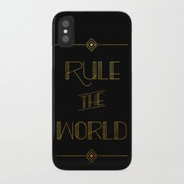 rule the world iPhone Case