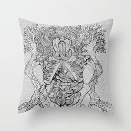 Octopus mouth Throw Pillow