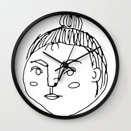 That Bun Gal // Cafe Customer Series Wall Clock