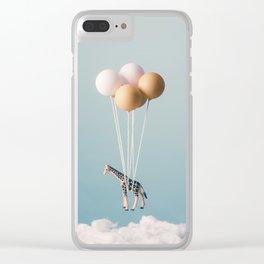 Giraffe's Dream Clear iPhone Case