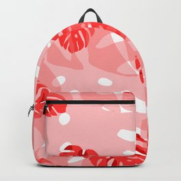 red monstera Backpack