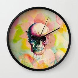 A Happy Skull Wall Clock