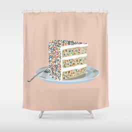 Sprinkle Party Cake Shower Curtain