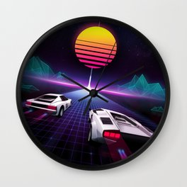 Neon Skyway Wall Clock