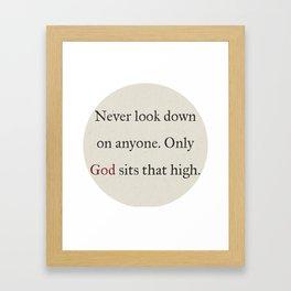 God Is Higher Framed Art Print