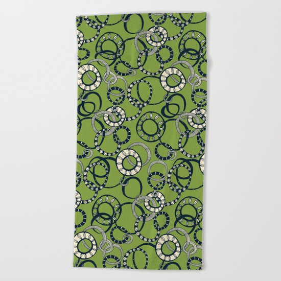Honolulu hoopla green Beach Towel