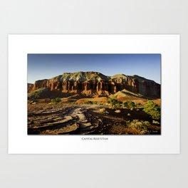 Capital Reef sunset, Utah Art Print
