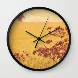 By the side of the wheat field. Wall Clock