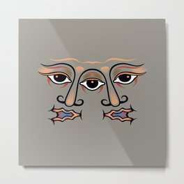 Three eyes are one whole face of twins. Metal Print