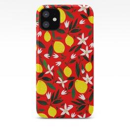 Lemons Red iPhone Case