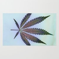 cannabis Area & Throw Rugs featuring Hemp Lumen #7  Marijuana, Cannabis by Fine Art Hemp