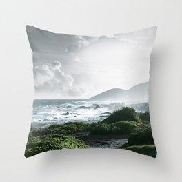 Sandy Beach, Hawaii Throw Pillow
