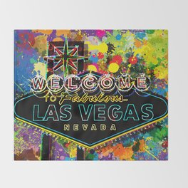 Welcome to Las Vegas Throw Blanket